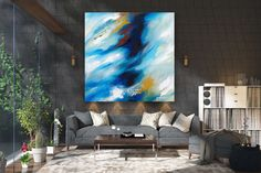 Large Abstract Painting on Canvas,Large Abstract Canvas Art,abstract canvas art,large abstract art,colorful art oil FY0027
