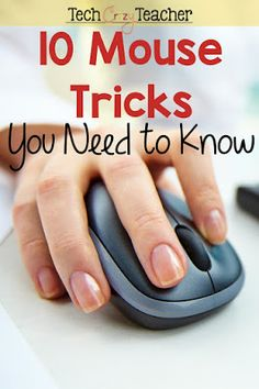 Mouse tricks? Really? Isn't that a little below our technology know-how? That's what I thought too! Until I learn some new tech tips and tricks that made my life so much easier! Who knew a few mouse tips could save me so much time on my computer! Life Hacks Computer, Computer Lessons, Computer Class, Technology Lessons, Computer Basics, Computer Help, Computer Technology, Computer Programming, Computer Tips