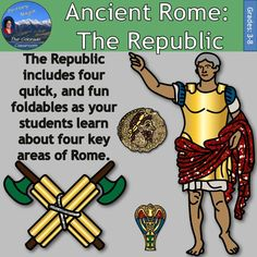 Ancient Rome: The Republic is one lesson from my larger unit, Ancient Rome Interactive Notebook. This lesson will have your students complete four foldables as they learn about four key aspects of the Roman Republic. The first foldable covers the government structure. The second foldable addresses a motto important to the Roman structure and people. The third foldable delves into the class system while finally, the fourth foldable covers the legal system in Ancient Rome.