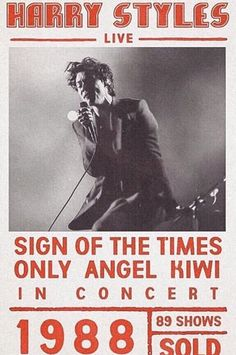 harry styles, concert, sign of the times, only angel, poster Harry Styles Poster, Harry Styles Concert, Harry Styles Live, Harry Styles Photos, One Direction Posters, One Direction Pictures, Bedroom Wall Collage, Photo Wall Collage, Picture Wall