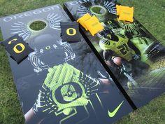 Oregon Ducks cornhole boards