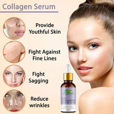Improves Skin Elasticity Decreases Fine Lines & Wrinkles Helps Balance The Skin's Moisture Level This Serum Stimulates The Skin's Collagen Regeneration Protect Skin From Direct Sun Light #ChiltanPure #organic #purity #skincare #serum Collagen Serum, Sun Light, Skin Elasticity, Moisturizer, Organic, Skin Care, Pure Products, Food, Sunlight