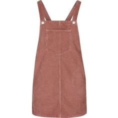 TopShop Petite Cord Pinafore Dress (3.780 RUB) ❤ liked on Polyvore featuring dresses, overalls, skirts, bottoms, dark pink, petite dresses, topshop, textured dress, brown dress and dark pink dress