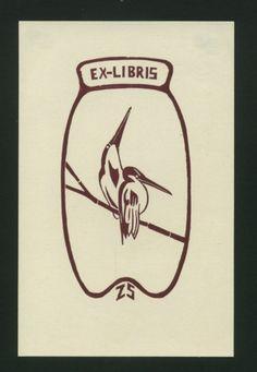 Vögel: Exlibris für ZS.