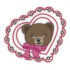Teddy Bear with Heart - 5x7 | What's New | Machine Embroidery Designs | SWAKembroidery.com Starbird Stock Designs