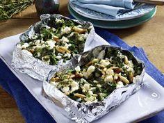 Schafskäse-Spinat-Taschen -