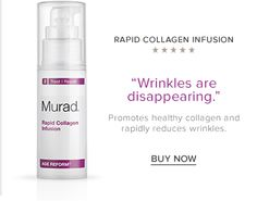 Rapid Collagen Infusion - This fast acting anti-aging treatment targets wrinkles and loss of resilience by rapidly revolumizing skin and supporting natural restoration of more youthful collagen levels.