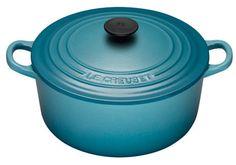 Le Creuset støbejernsgryde 26 cm. Farve: Caribbean som på billedet eller Cobalt blue eller Cerise