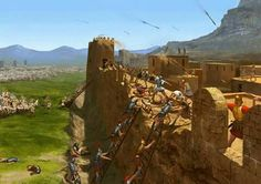 ASEDIO DE ERYX  En el año 277 a.C,  y después de un gran asedio,  Pirro, rey de Epiro, dirigió el asalto a la fortificación púnica sobre el monte Eryx, en la costa noroccidental de Sicilia. A traves de una brecha logró entrar y pasó a cuchillo a todos los soldados cartagineses que defendían el fuerte.