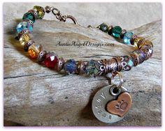 Personalized Rainbow Bridge Bracelet; Custom Pet Loss Bracelets; Handstamped  Paw Print Bracelets; Rainbow Bridge Dog and Cat Jewelry