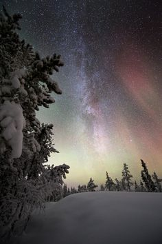 Faint aurora and the milky way, Yellowknife by Adam Hill