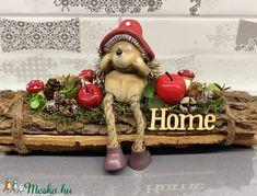 Süni és az almák - asztaldísz, dekoráció (AKezmuvescsodak) - Meska.hu Fall Decor, Holiday Decor, Halloween, Candles, Autumn, Christmas Ornaments, Spring, Crafts, Home Decor