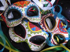 Dia de los Muertos-Day of the Dead Masks 1, 2, 3 by ~ToTheMask on deviantART
