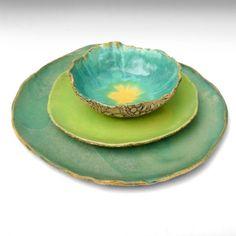 rustic stoneware dinnerware handmade Organic Soul 3 by OneClayBead from OneClayBead on Etsy. Ceramic Plates, Ceramic Pottery, Pottery Art, Ceramic Art, Pottery Ideas, Stoneware Dinnerware, Dinnerware Sets, Rustic Dinnerware, Teller Set