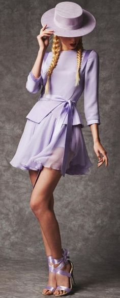 Jean-C-Antonelli spring 2014 lavender. The skirt is a bit short for me but the whole idea is nice.