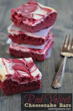 Red Velvet Cheesecake Bars?!  Yes please!