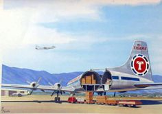 Flying Tiger Line Canadair freighter Tiger Airlines, Cargo Airlines, Civil Aviation, Aviation Art, Cargo Aircraft, Old Planes, Flight Attendant, Airports, Bristol