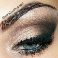 .@Sarah Antonucci | Simple brown smokey eye look using all shadows from the naked 2 palette :) bo...
