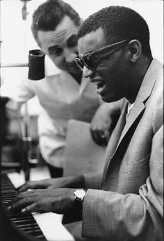 Ray Charles and Marty Paich, Hollywood, 1956 by William Claxton. Marty was David's dad, and he did orchestral arrangements for several TOTO albums.