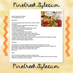 One of our most requested and repinned recipes...perfect for Summer from PineCreekStyle.com