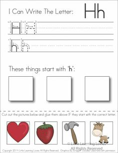 {Subscriber Exclusive Freebie} – Letter H: Write, Cut & Paste + My New Favorite Mattress Topper