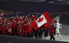 Sochi 2014 Opening Ceremony The True North enters Hayley Wickenheiser, Canada Pictures, Olympics Opening Ceremony, United Airlines, Winter Olympics, Picture Photo, Role Models, True North, Concert
