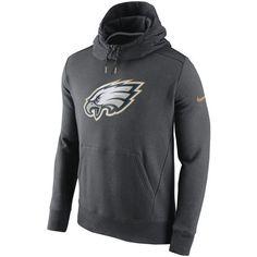 Men's Philadelphia Eagles Nike Charcoal Championship Drive Gold Collection Hybrid Fleece Performance Hoodie