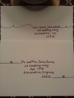 Handwritten addressing of envelopes and placecards