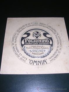 PUBLICIDAD - DIBUJO ORIGINAL A PLUMILLA PUBLICITARIO POLISHING RICART OMNIA VALLCARCA (BARCELONA) - Foto 1