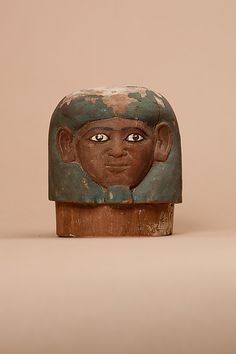 Canopic Jar lid belonging to Ukhhotep 12th Dynasty, Middle Kingdom c.1981-1802 BC (Souce: Met Museum)