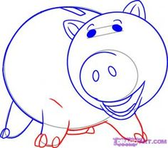 How to Draw Hamm From Toy Story