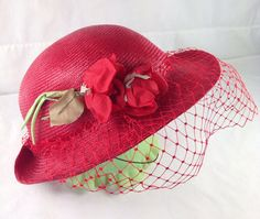 Vintage Bermona Trend of London Red Hat  Made in by SimplyAgain