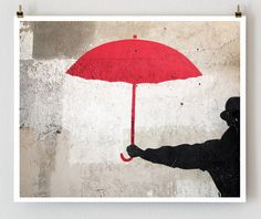 on one wall in my tree house there will be a mural, here's an idea. i love umbrellas but i do not love the rain