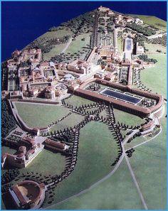 La villa de Adriano en Tivoli. El corazón del Imperio durante la PAX ROMANA. Residencia privada del Emperador y sede de su gobierno.