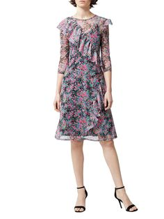 Buy your Warehouse Flower Burst Mesh Ruffle Dress online now at House of Fraser. Why not Buy and Collect in-store?