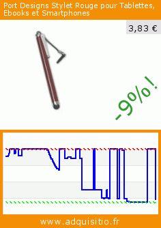 Port Designs Stylet Rouge pour Tablettes, Ebooks et Smartphones (Accessoire). Réduction de 62%! Prix actuel 3,83 €, l'ancien prix était de 9,99 €. https://www.adquisitio.fr/port-designs/140213-stylet-tablette