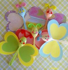 Small Crafts For Kids Kids Crafts, Summer Crafts, Toddler Crafts, Preschool Crafts, Easter Crafts, Craft Projects, Arts And Crafts, Plastic Spoon Crafts, Plastic Spoons