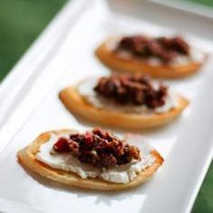 Bruschetta With Goat Cheese And Olive Tapenade from Love & Olive Oil, found @Edamam!