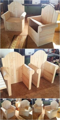 DIY Wood Pallet Accomplishments Look at the stunning impacts of these Sofa Seats thought. These ones of a kind wooden sofa seats made with the stunnin. Diy Outdoor Furniture, Diy Pallet Furniture, Diy Pallet Projects, Furniture Plans, Furniture Making, Wood Furniture, Woodworking Projects, Pallet Ideas, Furniture Stores
