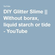 how to make flubber without borax or tide