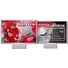 Detroit Red Wings NHL Pavel Datsyuk Silver Coin Card
