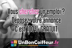 Vous chercher un emploi dans la coiffure, déposer votre annonce gratuitement sur UnBonCoiffeur.fr