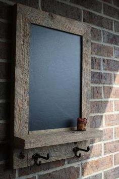 Rustic and Reclaimed Barn Wood Chalkboard.  Very cool! by guida