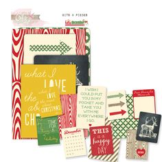 Glitz Design - Hello December Collection - Christmas - Cardstock Pieces - Bits and Pieces at Scrapbook.com