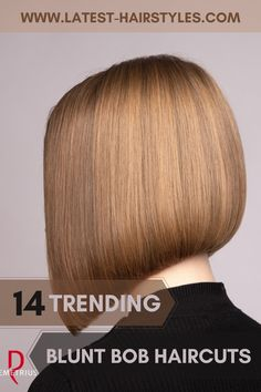 Looking for hairstyles perfect for oval, square, or heart-shaped faces? Latest-Hairstyles has 14 popular blunt bob haircuts. Just click the image to see all. Photo credit: Instagram @demetriusschool_eng #bluntbobhaircuts #bluntbobhairstyles