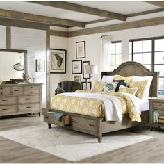 Legacy Classic Furniture - Shelter Storage Bedroom Set - Charm, character, and rustic appeal; all of these traits combine beautifully to cre...