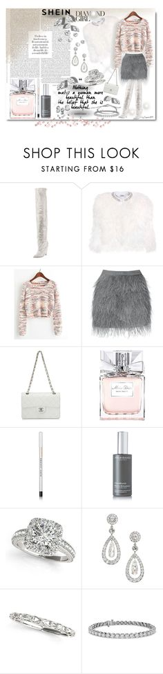 """""""SHEIN Diamond Girl"""" by emperormpf ❤ liked on Polyvore featuring Yves Saint Laurent, Miu Miu, Chanel, Christian Dior, Marc Jacobs, African Botanics, Allurez, Blue Nile, John Hardy and vintage"""
