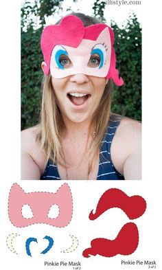 MLP Mask Pinkie Pie Mask - illistyle.com #MyLittlePony #MLP #bronies
