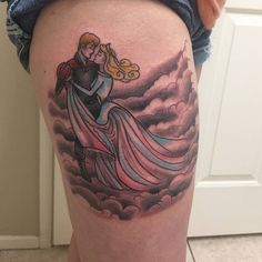 #sleepingbeauty #disney inspired fun on her thigh can't wait to see this one all healed...thanks 4 looking  #tattoosbyryanw  #tattoos#thightattoo#tattoo#tattooart#disneytattoo#girlswithink#freshink#ink#colortattoo#disneyart#disneytattoos#tattooer