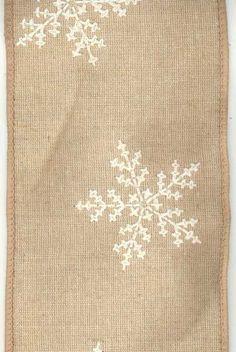 linen cross stitch snowflake, cream